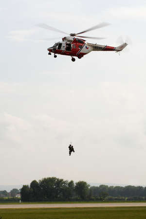 Aerial rescue helicopter  Editorial