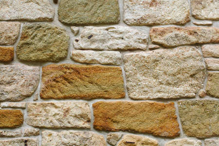 Texture of rocky wall made of sandstone