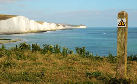 Seven Sisters cliffs in England Stock Photo