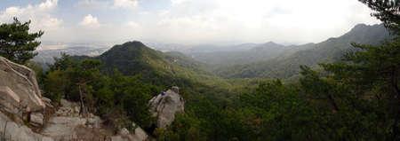 Bukhansan National Park in South Korea Stock Photo