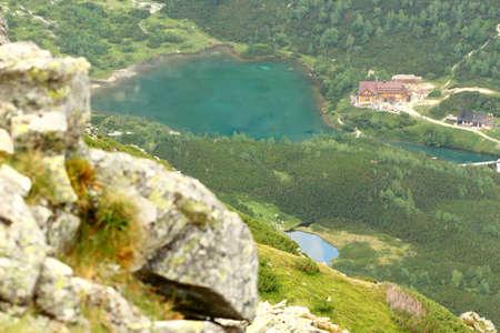 Green lake in High Tatras