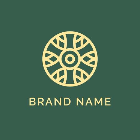 Streszczenie elegancki kwiat projekt wektor ikona logo. Uniwersalny kreatywny symbol premium. Pełen wdzięku klejnot wektor znak.