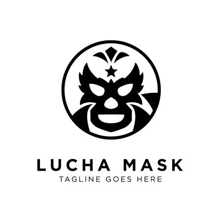Lucha Mask Logo-Konzept. Kreative minimale Designvorlage. Symbol für Corporate Business Identity. Kreatives Vektorelement