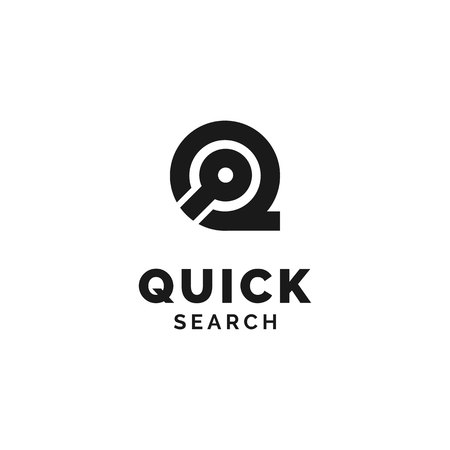 Initial Q with Search icon Logo Design Inspiration Stock Vector - 122006619