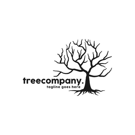 Root Of The Tree Logo Design Inspiration Vettoriali