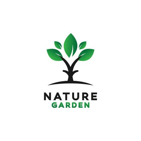 Green Garden Logo Design Inspiration Vettoriali