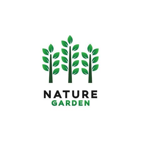 Green Garden Logo Design Inspiration Ilustração