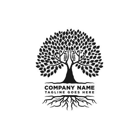 Root Of The Tree Logo Design Inspiration Ilustracja