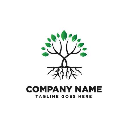 Ispirazione per il design del logo dell'albero Logo