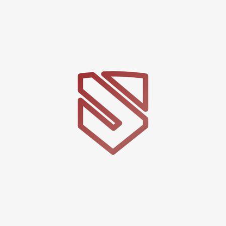 Letter S shield logo design. Vector illustration