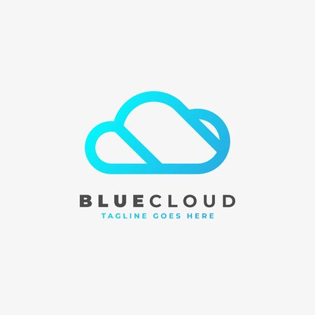 Cloud logo design. Vector illustration