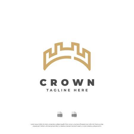 Golden crown logo design. Logó