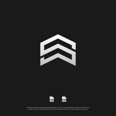 Letter S monogram logo design.