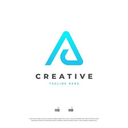 Letter A monogram logo design. Vettoriali