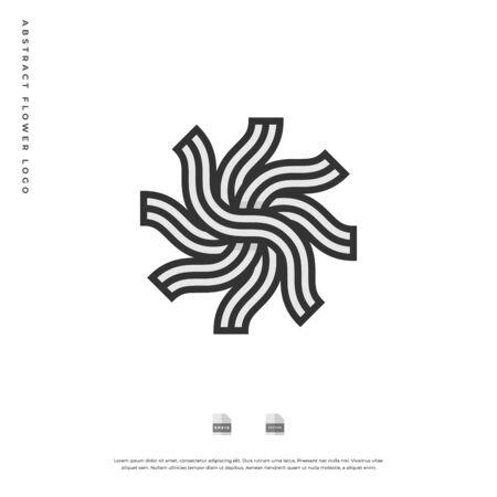 Abstract flower monogram logo design. Vettoriali