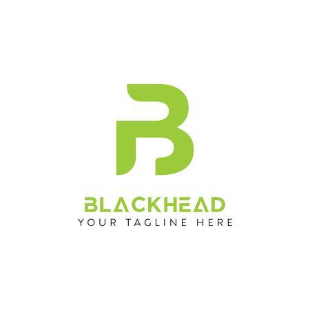 B Logo Design Inspiration, Vector illustration Vettoriali