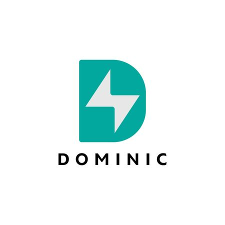 D Logo Design Inspiration, Vector illustration Vettoriali