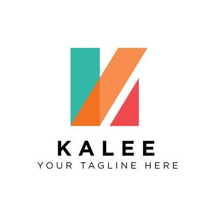 K Logo Design Inspiration, Vector illustration Vettoriali