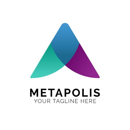 Initial A Logo Design Inspiration, Vector illustration Vettoriali