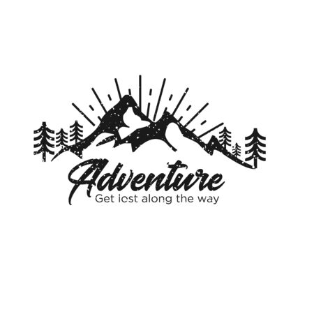 Mountain Badges Logo Design Inspiration, Vector illustration