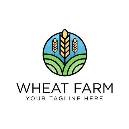 Wheat Logo Design Inspiration, Vector illustration