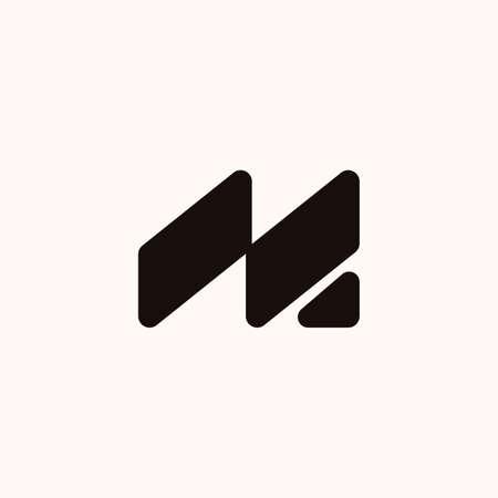 Creative Professional Trendy Monogram M Logo Design in Black and White Color, Initial Based Alphabet Icon Logo Vettoriali