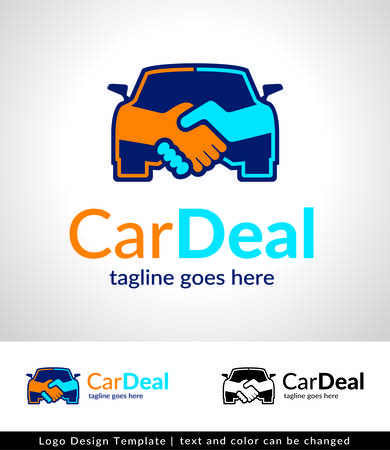 Car Deal Logo Template Design vector Ilustracja