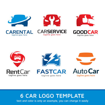 Automotive Car  Template Design Vector Çizim