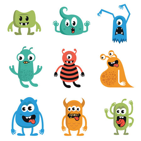 funny monster: Funny Monster Character Design Vector