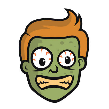 Zombie Head Ontwerp Vector Stock Illustratie
