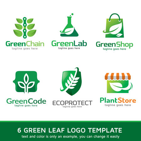 nature  plant: Green Leaf Nature  Template Design Vector