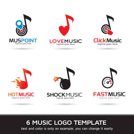 music symbols:  Template Design Vector. Music , Icon, Sign or Symbol.