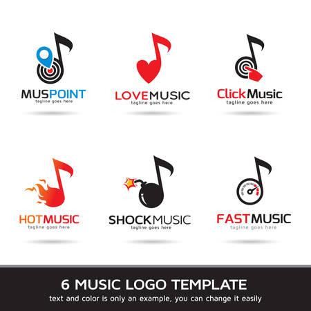 Template Design Vector. Muziek, pictogram, teken of symbool.