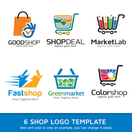 shop online: Shop Market  Template Design Vector Illustration