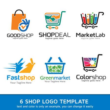 Shop Market  Template Design Vector Illustration