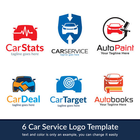 Automotive Car Logo Template Design Vector Vettoriali