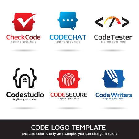 Code Logo Template Design Vector