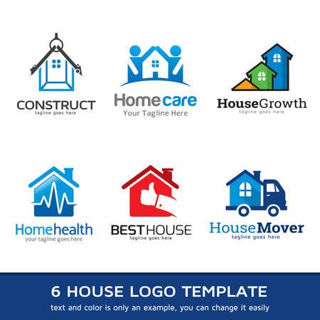 Home Health Care Logo: House Business Logo Template Design Vector