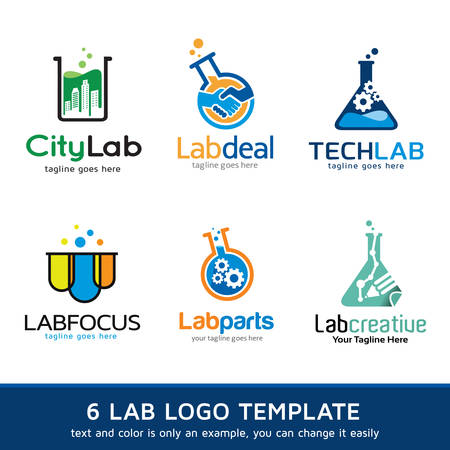 logo informatique: Lab Logo Template Design Vector