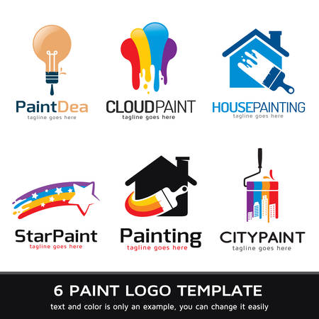 paint wall: Paint Logo Template Design Vector Illustration