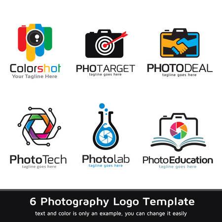 写真のロゴのテンプレート デザインのベクトル