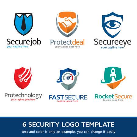seguridad en el trabajo: Seguridad - Protección de Logo Diseño de plantilla de vectores Vectores