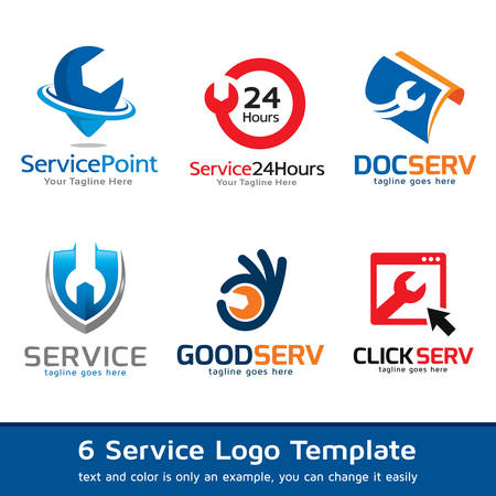 computer applications: Service Logo Template Design Vector Illustration