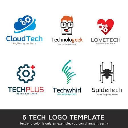 Technology Logo Template Design Vector