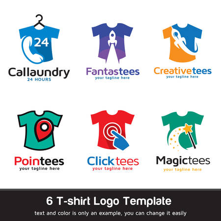 clothing shop: T-shirt - Fashion Logo Template Design Vector