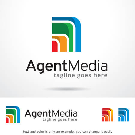 web development: Agent Media Logo Template Design Vector Illustration