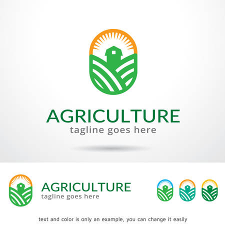 mobile application: Agriculture Logo Template Design Vector