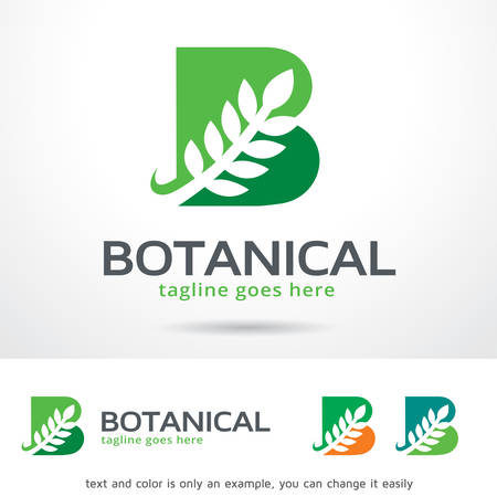 simple logo: Botanical Letter B Logo Template Design Vector