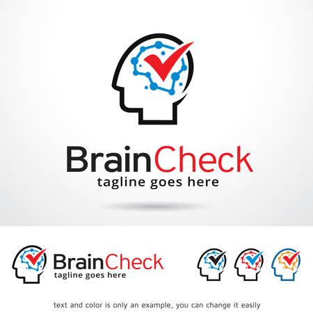 Brain Check Logo Template Design Vector