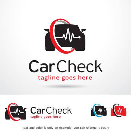 Car Sprawdź Logo Szablon wektora projektu